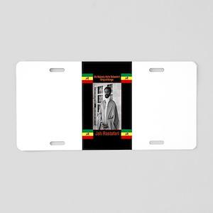 Haile-Selassie-Jah_Rastafar Aluminum License Plate
