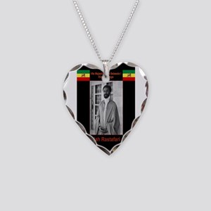 Haile-Selassie-Jah_Rastafari Necklace Heart Charm