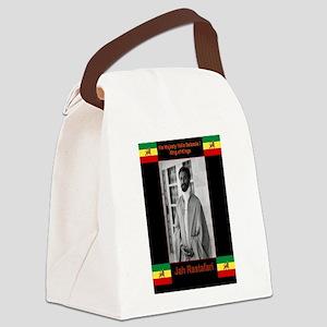 Haile-Selassie-Jah_Rastafari Canvas Lunch Bag