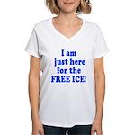 freeice10x10x200dpi Women's V-Neck T-Shirt