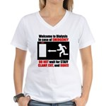 3-clampcutrun10x10x200dpi Women's V-Neck T-Shi