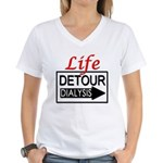 lifedetour10x10x200dpi Women's V-Neck T-Shirt