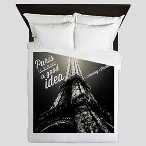 Audrey Hepburn Paris Queen Duvet
