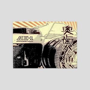 Japanese cartoon vintage camera 5'x7'Area Rug