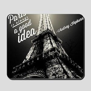 Audrey Hepburn Paris Mousepad