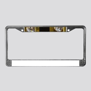 diamond_black_coral_gold_ License Plate Frame