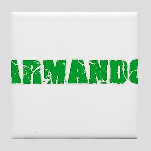 Armando Name Weathered Green Design Tile Coaster