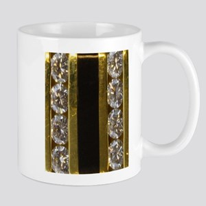 diamond_black_coral_gold_ Mugs