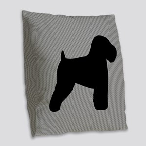 Wheaten Terrier Burlap Throw Pillow