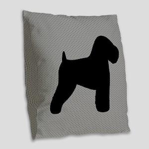 Wheaten Terrier Burlap Throw Pillow