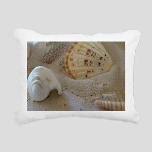 Beautiful Seashells Rectangular Canvas Pillow