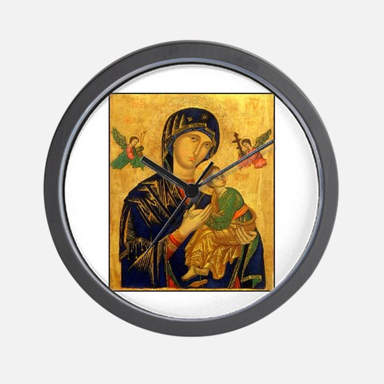 Blessed Mother of Perpetual H Wall Clock