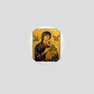 Blessed Mother of Perpetual H Mini Button