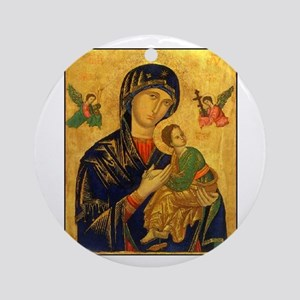Blessed Mother of Perpetual H Ornament (Round)