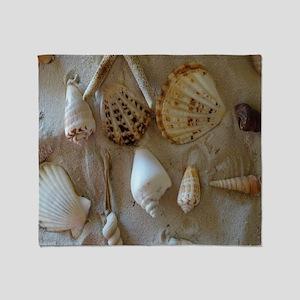 Beautiful Seashells Throw Blanket