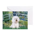 Bridge & Bichon Greeting Card