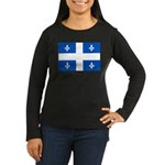 Official Flag with PMS 293 Co Women's Long Sleeve
