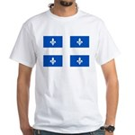 Official Flag with PMS 293 Co White T-Shirt