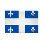 Official Flag with PMS 293 Co Rectangle Magnet (10