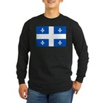Official Flag with PMS 293 Co Long Sleeve Dark T-S