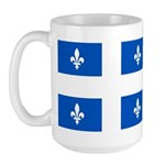 Official Flag with PMS 293 Co Large Mug