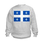 Official Flag with PMS 293 Co Kids Sweatshirt