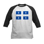 Official Flag with PMS 293 Co Kids Baseball Jersey