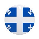 Official Flag with PMS 293 Co Ornament (Round)