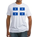 Official Flag with PMS 293 Co Fitted T-Shirt