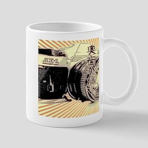 Japanese cartoon vintage camera Mugs