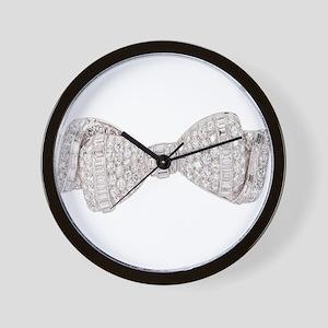 Diamond_Bow Wall Clock