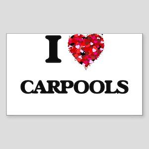 I love Carpools Sticker