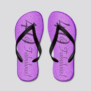 2b72dd1b542 40th Birthday Fabulous Flip Flops