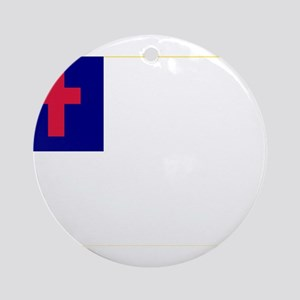 Christian_flag Ornament (Round)