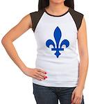 Lys Flower PMS 293 Color Women's Cap Sleeve T-Shir