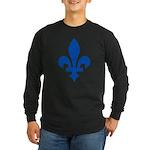 Lys Flower PMS 293 Color Long Sleeve Dark T-Shirt