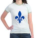 Lys Flower PMS 293 Color Jr. Ringer T-Shirt