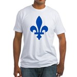 Lys Flower PMS 293 Color Fitted T-Shirt