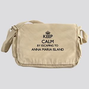 Keep calm by escaping to Anna Maria Messenger Bag