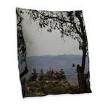Hualapai Mountain View Burlap Throw Pillow