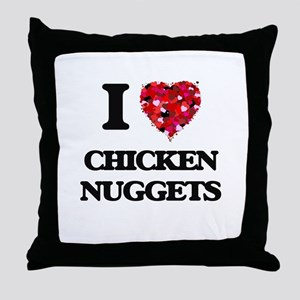 I love Chicken Nuggets Throw Pillow