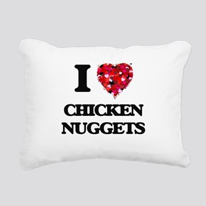 I love Chicken Nuggets Rectangular Canvas Pillow