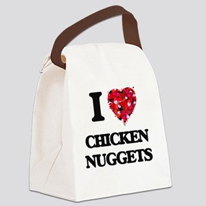 I love Chicken Nuggets Canvas Lunch Bag