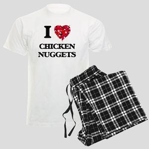 I love Chicken Nuggets Men's Light Pajamas
