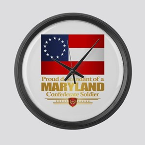 Maryland Proud Descendant Large Wall Clock