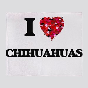 I love Chihuahuas Throw Blanket
