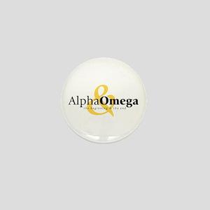 Alpha and Omega Mini Button