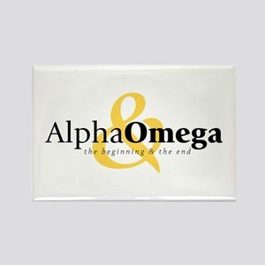Alpha and Omega Rectangle Magnet