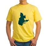 Map with PMS 293 Color Yellow T-Shirt