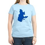 Map with PMS 293 Color Women's Light T-Shirt